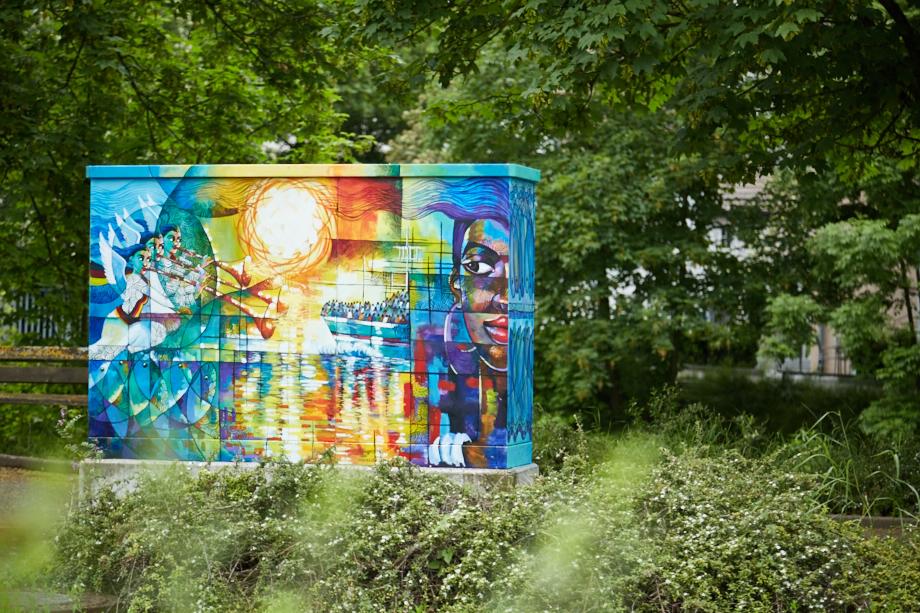 Balinger Streetart: Der Kunstkasten von Mulugeta