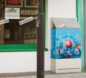"Balinger Streetart: Kunstkasten ""Shine Day"""