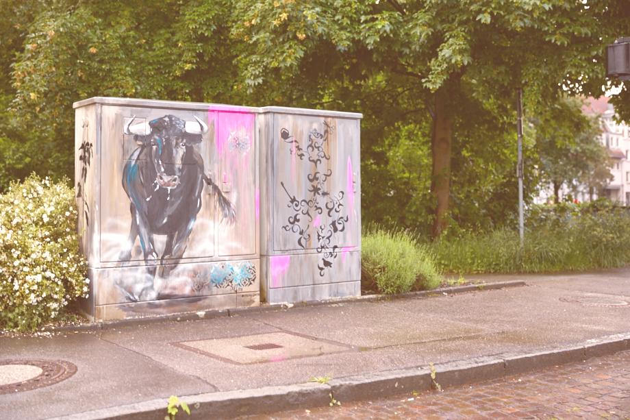"""Balinger Streetart: Kunstkasten  """"Europa und der Stier"""""""