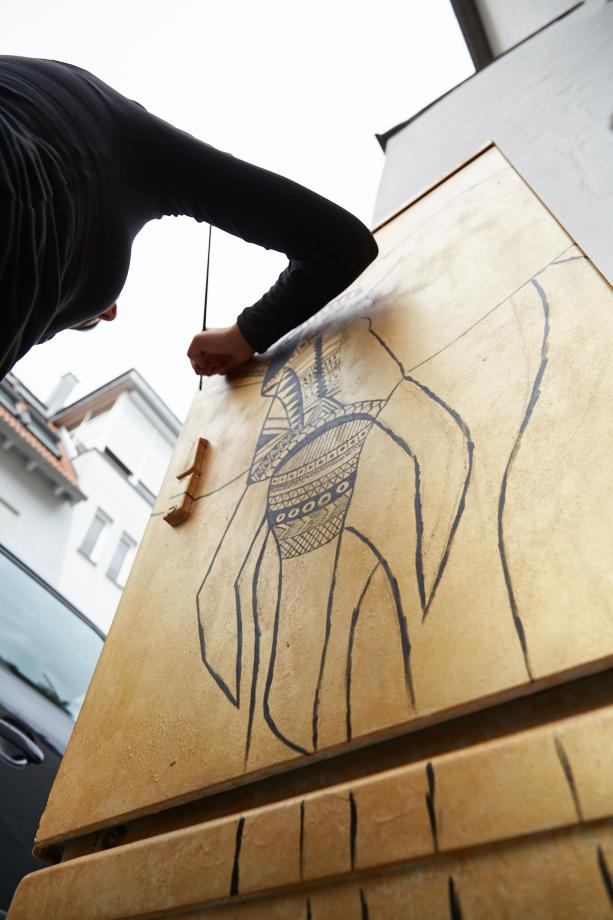 "Balinger Streetart: Kunstkasten ""Elefant. Remember me"""