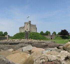 Blick auf einen Teil von Cardiff Castle