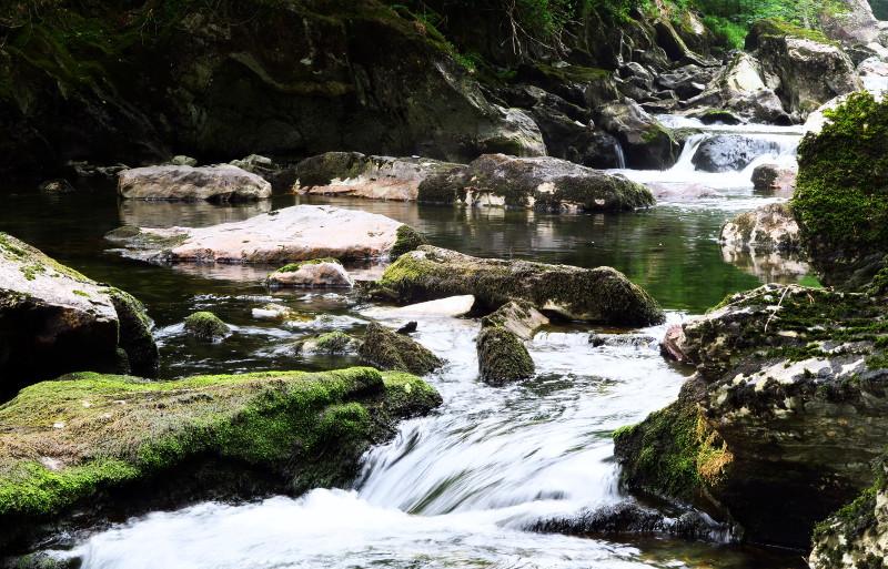 Ein Wildfluss in Wales
