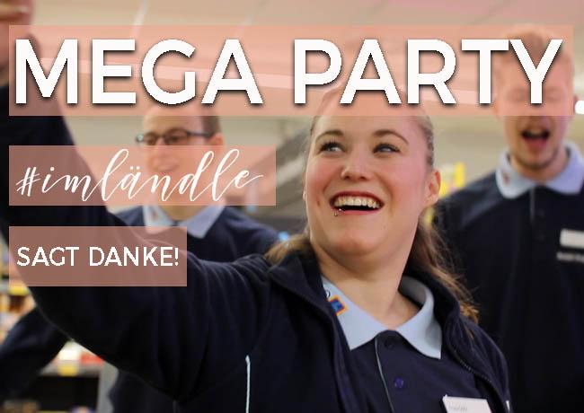 Mega Party bei ALDI SÜD