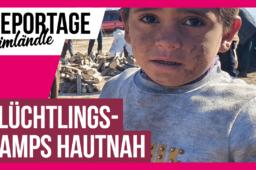 Die inoffiziellen Flüchtlingscamps nahe der syrischen Grenze