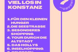 Immer was los: Sieben Tipps für Konstanz